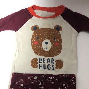 """Baby 2 piece """"Bear Hugs"""" pj set, 6-9 months"""